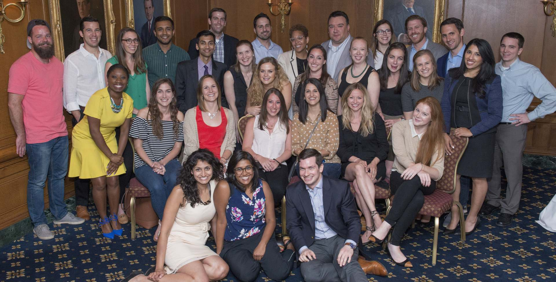 Members of the GW Law Class of 2012 during their 5th year reunion