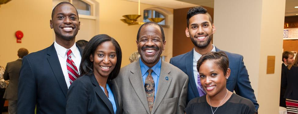 Students and Alumni welcome Dean Blake D. Morant during Alumni Weekend 2014
