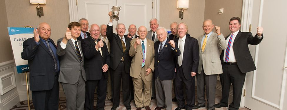 Members of the GW Law Class of 1965 during their 50th year reunion.
