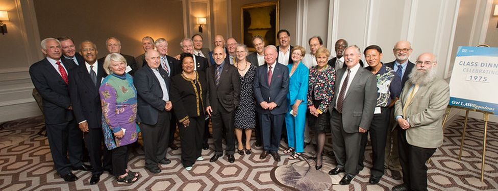 Members of the GW Law Class of 1975 during their 40th year reunion.