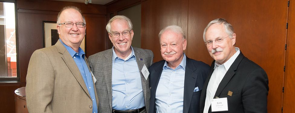 Bill Mutryn, Wes Burnett, Tom Mills, and Earle O'Donnell enjoying their 40th year reunion